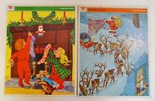 VINTAGE WHITMAN TRAY PUZZLE NIGHT BEFORE CHRISTMAS SANTA REINDEER SLEIGH 1970's
