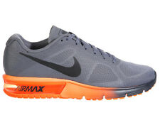 NEW MENS NIKE AIR MAX SEQUENT RUNNING SHOES TRAINERS COOL GREY / TOTAL ORANGE