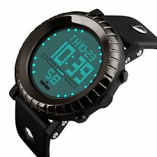 Fashion Men Waterproof LED Day Date Digital Alarm  Army Quartz Sport Wrist Watch