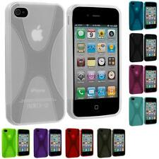 For iPhone 4 4S 4G Accessory Color X-Line TPU Rubber Jelly Skin Case Cover