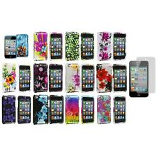 Flower Design Case Cover Accessory+Screen Protector for iPod Touch 4th Gen 4G 4