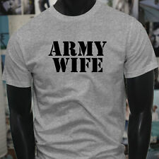 ARMY WIFE ARMED SPECIAL FORCES PROUD MILITARY Mens Gray T-Shirt