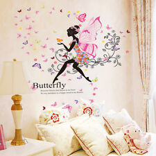 Flower Fairy Wing Girl Butterfly Wall Sticker Living Room  Bedroom wall decals