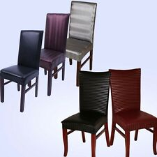 Chair Covers Strechable Dining Banquet Home Hotel Wedding PU Leather Slipcovers