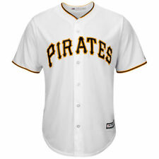Majestic Pittsburgh Pirates White Official Cool Base Jersey - MLB