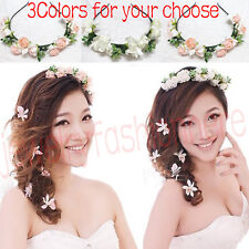 Flower Garland Floral Bridal Headband Hairband Wedding Prom Hair Accessories HG