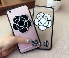 New Camellia Flower TPU with a mirror For iPhone 6/6S Plus iPhone Case Cover NEW