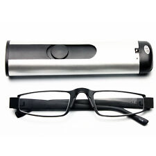 New Men Temple Half Rimless Reading Glasses Reader Enlarger with BOX 1.00~3.50