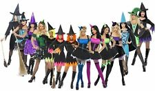 Ladies Halloween Witch Fancy Dress Costume Wicked Sexy Womens Outfit