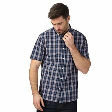 Maine New England Mens Big And Tall Navy Checked Shirt From Debenhams