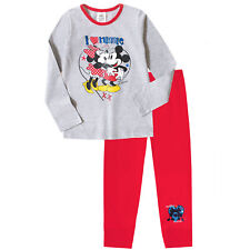 GIRLS Disney Minnie Mouse Character Pyjamas Cotton Long PJ Set Nightwear