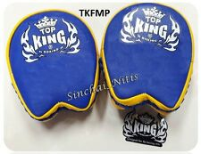 TOP KING FOCUS MITTS PADS TKFMP BLUE YELLOW FREE SIZE TRAINING SPARRING MMA K1