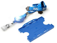NHS Lanyard Retractable Badge Reel & NHS Double Sided Holder (FREE POST)