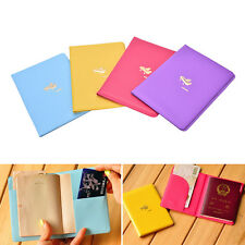 Airplane Pattern Passport ID Card Cover Case Holder Travel Protector Exquisite