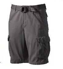 Urban Pipeline Mens Cargo Shorts Belted twill cotton solid size 44 NEW