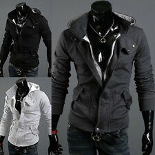 Fashion Mens Slim Fit Casual Zipper Hoodies Sweater Coat Jacket Outwear Cardigan