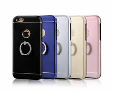 Metal+TPU Phone Case Cover With Finger Ring Stand Dock For iPhone 6 6S Plus