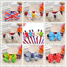 Adjustable Dog Cat Collar Pet Bowknot with Bell Puppy Necktie Bow Tie Gift