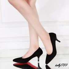 Womens Kitten Heel Pointed toe Office Lady Pumps Court Shoes#6 Color Size 4-10.5