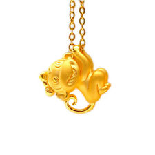 1peice Gold Plated Charm Pendant Animal Monkey Necklaces Collar Chinese Style