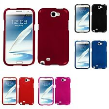 For Samsung Galaxy Note 2 N7100 Rigid Plastic Hard Snap-On Case Phone Cover