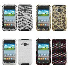 For Samsung Rugby Pro i547 Diamond Diamante Bling Rhinestone Case Cover