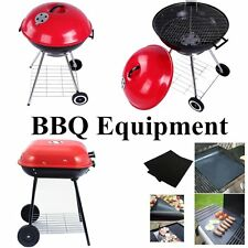 Hot Charcoal Trolley Garden Outdoor Barbecue Cooking BBQ Grill Powder Wheel Mat