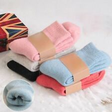 Winter Warm Comfortable Women Socks Thicken Wool Cotton Pure Solid