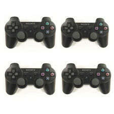 4Pcs Black Wireless Bluetooth Controller For Sony PS3 PlayStation 3 Dualshock 3