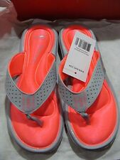 WMNS NIKE COMFORT THONG 354925 005 WOLF GREY/HOT PUNCH SIZE 6~12