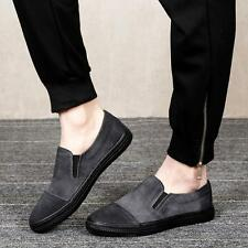 New driving Loafer Suede Leather Round Slip On Mens Casual Flat Oxfords Shoes