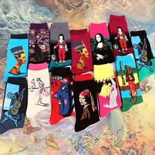 Men Cotton Unisex Van Gogh Starry Night Modern Renaissance Art Painting Socks
