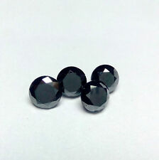 1mm to 6mm CALIBRATED SIZE NATURAL Black DIAMOND ROUND TOP QUALITY LOOSE DIAMOND