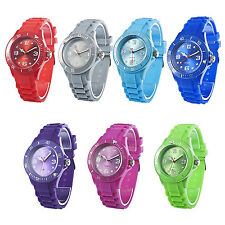 Classic Stylish Silicon Jelly Strap Women's Wrist Watch BF