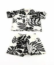Boy's Big Hibiscus Hawaiian Cabana Set (Shirt and Pants)