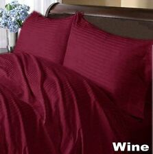 Hotel Bedding Collection Duvet/Fitted/Flat 1000TC Egyptian Cotton Wine Stripe