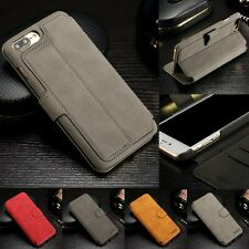 Genuine Magnetic Flip Wallet Leather Stand Case Cover For iPhone 6 6S 7 Plus New