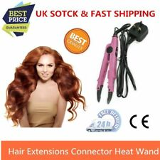 100Pcs Professional Hair Extension Fusion Heat Connector Iron Pink Temp UK