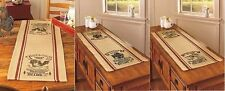 Country Kitchen Table Runner Primitive Farmhouse Farm Chicken Cow Pig Dairy NEW