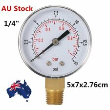 """Water and Air Pressure Gauge New 1/4"""" Brass Thread 0-15 PSI 0-1 Bar DX"""