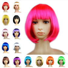 Women Lady Straight Short Hair BOB Wig Cosplay Party Anime Full Wigs Fancy Dress