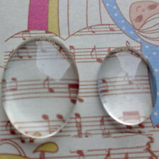 Glass Clear Transparent Oval Dome Cameo Cabochons Cameo Settings Glass Cover