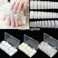 100/500Pcs Clear Natural French False Acrylic Tips For UV Gel Nail Art DIY New