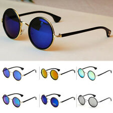 Fashion Women Men Hippie Retro HD Sunglasses Round Vintage Mirror Glasses UV400