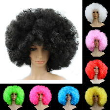 Women Men Afro Curly Wig Costume Circus Clown Full Wigs Funny Party Fancy Dress