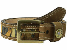 Justin Brown Camo Single Shot Leather Belt Sizes  34 to 44 ~  ~ NEW with tag