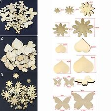 Mixed Sizes Fitted Sewing Wood Scrapbooking Flower Butterfly Heart Buttons
