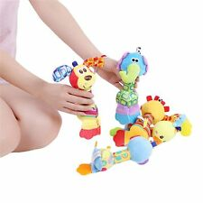 Stroll Kids Squeaker Sounder Baby Plush Toy Animal Hand Bell Teether Rattle