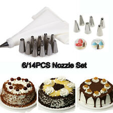 Baking Tool Piping Icing Bag Stainless Steel Nozzles Coupler Pastry Tips