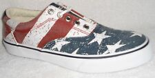 NEW SPERRY TOP SIDER STRIPER  LL STARS & STRIPES SNEAKERS BOAT SHOES